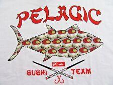 "PELAGIC Offshore Gear ""SUSHI TEAM"" SS White Cotton T Shirt Size M (NWT)"
