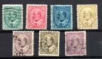 Canada KEVII 1903 fine used set to 50c SG175-185 WS15726