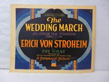 The Wedding March 1928 Original Lobby Card Movie Memorabilia Erich Von Stroheim