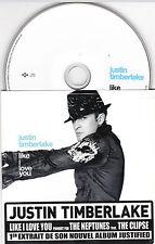 CD CARTONNE CARDSLEEVE JUSTIN TIMBERLAKE 2T DE 2002 FRENCH STICK LIKE I LOVE YOU