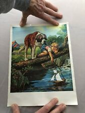 8x11 Picture Of Boy & St. Bernard- Country Safe/ Save? Laundry Detergent