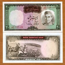 Iran, 20 Rials, (1969), P-84, UNC > Shah Pahlavi