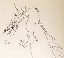 1959 DISNEY SLEEPING BEAUTY MALEFICENT AS DRAGON ORIGINAL PRODUCTION DRAWING CEL
