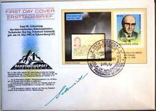 MALDIVES MALEDIVEN 1992 Block 262 1823 Post Rocket Pioneer Schmiedl signed FDC