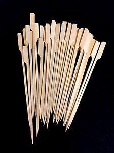200 Disposal Bamboo Paddle Serving Bamboo skewer Skewers 18cm New