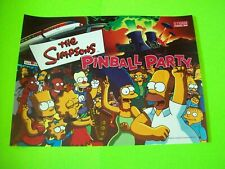 The Simpsons Pinball Party Translite Art Original Stern Game Artwork Sheet 2003