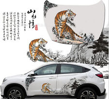 1set Tiger Car Truck auto sport Graphics Side Body waist Decal emblem Stickers