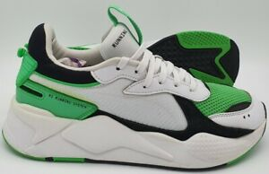 Puma RS-X Reinvention Leather Trainers 369579-05 White/Green UK9.5/US10.5/EU44