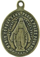 MIRACULOUS MEDAL bronze, cast from 19th century antique French original