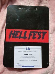 Hell Fest Screen Used ClipBoard