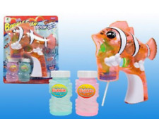 Bubble gun light up musical Nemo clown fish  - 2 refills, batt included.