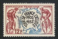 France 1953 MNH Mi 977 Sc 693 Bicycle Tour de France **