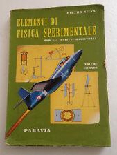 Elementi di Fisica Sperimentale per gli istituti magistrali Pietro Silva 1959
