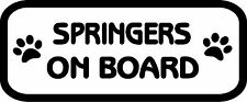 Springers On Board Car, Van sticker, decal paw print
