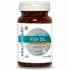 HealthKart Fish oil 1000 mg Fish Oil With EPA & DHA 60 Softgels Free Shipping