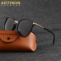 KEITHION Brand Design PolarIzed Sunglasses Women Vintage Round Mirror Glasses