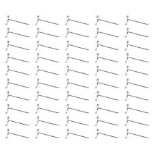 """50 Pc Chrome 8"""" Long Gridwall Hooks Grid Panel Display Wire Metal Hanger Retail"""