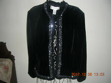 VICTOR COSTA JACKET WITH SEQUINS XL