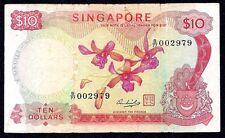 SINGAPORE  10 DOLLARS  1973  P-3d  * ORCHID SERIE *