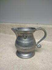 Vintage Wilton Armetale Pewter Liberty Bell Creamer