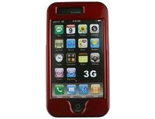 Red Snap On Hard Plastic Protector Phone Cover Case For Apple iPhone 3G S