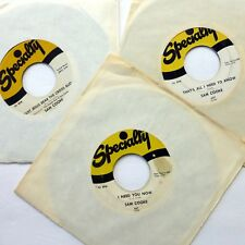 SAM COOKE lot of 3x45rpm singles Soul on Specialty  d50