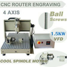 four 4 axis 6040 1500W CNC Router cnc engraving milling machine engraver mach3