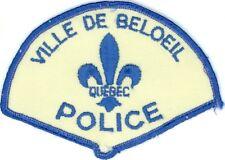 Ville de Beloeil Police, Quebec, Canada Vintage Uniform/Shoulder Patch