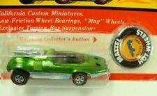 Hot Wheels 1970 Peeping Bomb Light Green Redline on Unpunched Blister Card