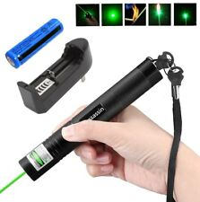 10Miles 532nm ASS Green Laser Pointer Lazer Pen Visible Beam Light+18650+Charger