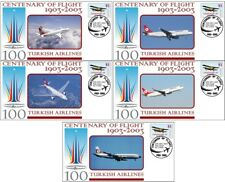 TURKISH AIRLINES CENTENARY OF FLIGHT SET OF 5 COVERS