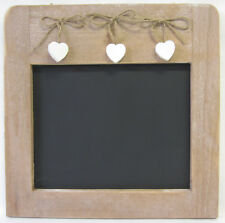 New Wooden Blackboard & 3 Hearts French Provincial Style Timber Frame Chalkboard