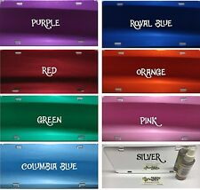 RED Mirrored Acrylic License Plate Blanks-HIGH QUALITY Mirror Shine for Vinyl
