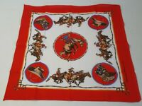Vintage New  Bandanna Scarf Western Cowboy Horse Bucking Rodeo Made in USA 4968