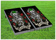CORNHOLE BEANBAG TOSS GAME w Bags Game Boards Mariachi Day of the Dead Set 917