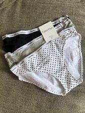 NWT CALVIN KLEIN Women's 3 Pack Cotton Bikini Panty Underwear Size Small S