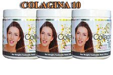 COLAGINA 10,COLAGEINA 10,MEGA COLLAGEN  PLUS(195 gr)Hydrolized-( 3-PACK )