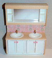Lundby Spiegelschrank Waschtisch, Miniatur für Puppenhaus 1:18 *Auktion*