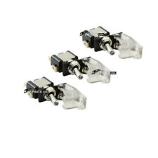 3PCS CLEAR Missile launcher Toggle Switch + White light led  speed boats x 3