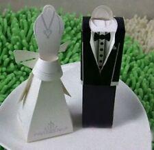 100 Kate Aspen White Bride Dress Groom Wedding Bomboniere box name card holder