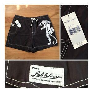 NWT Men's Polo Ralph Lauren Size 32 Board Shorts VTG Swim Trunks w/ Liner $85