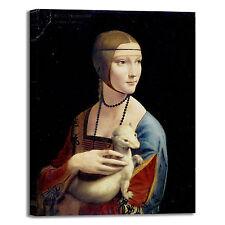 da Vinci dama con l'ermellino quadro stampa tela dipinto telaio arredo casa