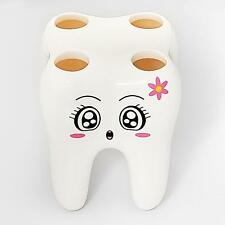 Novelty 4 Hole Tooth Style Kids Toothbrush Holder Bracket Container For Bathroom