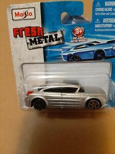 maisto fresh metal 1/64 dodge silver concept car dodge