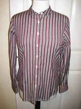 THOMAS PINK womens red white black plaid casual shirt slightly fitted size 10