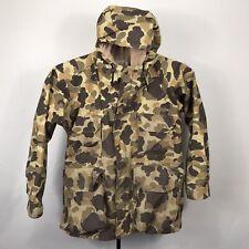 VTG Cabelas Mens Medium Gore Tex Hooded Camo Hunting Jacket Coat Camouflage USA