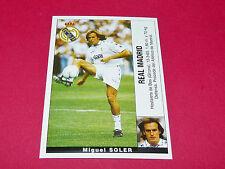 MIGUEL SOLER FUTBOL REAL MADRID PANINI LIGA 95-96 ESPANA 1995-1996 FOOTBALL