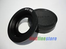 M42 Lens to Nikon AI F mount camera adapter with glass focus to infinity + CAP