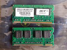 1gb (2x512mb) Pc2-4200 Ddr2-533 533mhz RAM SODIMM GU33512AGEPN612C ELPIDA ACER