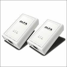 ALFA AHPE305 2-pack Powerline Ethernet Bridge Adapter 200 mbps kit